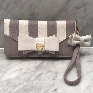 Betsey Johnson Multi Compartment Wristlet Wallet